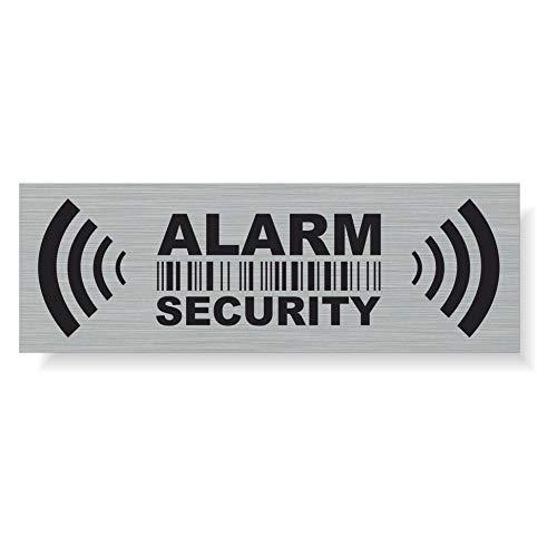 Decooo.be 20 pegatinas de advertencia de alarma de seguridad para uso interno y externo – Protección para el hogar y el coche – Resistente a la intemperie – Tamaño: 7,4 x 2,5 cm – Alarma de seguridad