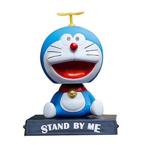 Doraemon Shaking Head Doll Car Mobile Phone Bracket Cartoon Cute Table Phone Holder, Cute Bobble Head Doll Car Interior Kids Cartoon Dashboard Decorative Doll Phone Holder for Car Dashboard Toys