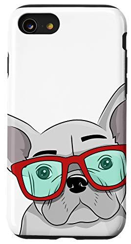 iPhone SE (2020) / 7 / 8 French Bulldog Cute Glasses Frenchie Case