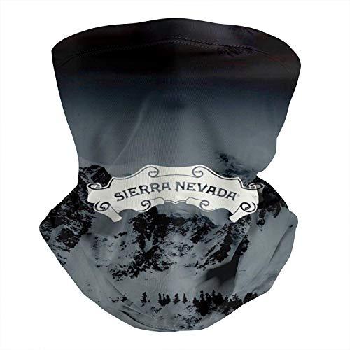 Sierra-Nevada-Pale-Ale-Cerveza-Logo-Blanco- Cuello Pañuelo Viento Polvo Prueba,Polainas de Cuello Elástico,Calentador de Cuello Microfibra,Bufanda Facial Unisex,Hombre Mujer Pañuelo de Cabeza