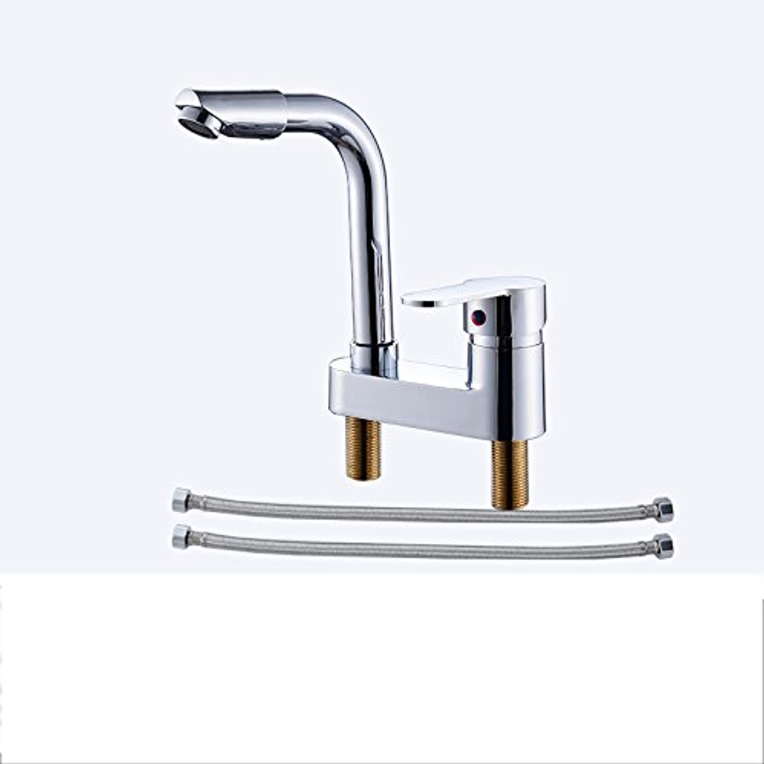 Hlluya Professional Sink Mixer Tap Kitchen Faucet Three holes and cold water faucet Single Handle, B