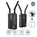Wireless HDMI Video Transmitter and Receiver Kit, [Official] Hollyland Mars 300 5G Image Transmission System Support HD 1080P 300 Feet for DSLR and Mirrorless Camera Gimbal