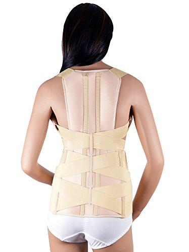 Soporte de Escoliosis Médica ASSISTICA, Corrector de Postura Firme con 2 Férulas Metálicas Traseras, Soporte para Espalda y Columna Lumbar, Mejora la Postura (X-Large)
