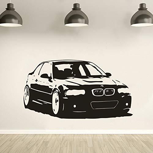 lyclff Auto Design Vinyl Wand Poster Serie Auto Wandtattoo Autos Studio Dekoration Auto-Auto Garage Wandkunst Aufkleber 57x31c