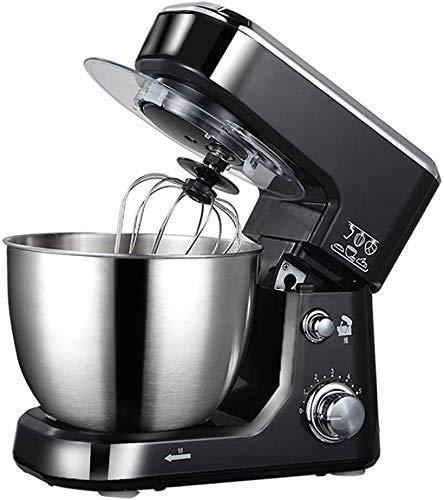 HFJKD keukenmixer, 6-speed kantelbare voedselmixer, elektrische keukenmixer met deeghaak, met kom Desktopmixer Huishoudelijke roestvrijstalen kloppers