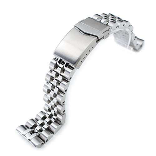MiLTAT 22mm Watch Band for Seiko Turtle SRP773 SRP775 SRP777 SRPA21, Angus-J Screw-Link