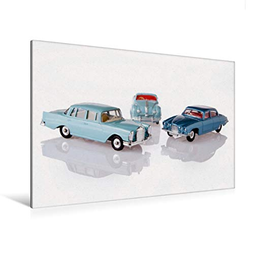 Calvendo Premium Textil-Leinwand 120 cm x 80 cm quer, Dinky Toys Spielzeugautos | Wandbild, Bild auf Keilrahmen, Fertigbild auf echter Leinwand, Leinwanddruck: Atlantic/Jaguar Mark X Hobbys Hobbys