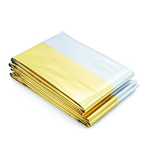 Rettungsdecke 10er Set (160 cm x 210 cm, silber/gold)
