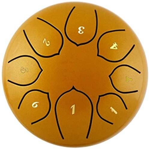 LLC- SUDA Tambor Handpan, Tambor de la lengüeta de Acero 6 Pulgadas Regalo de Instrumentos 8 Tono Curación Música Hecho a Mano Tambor Rendimiento con Bolsa de batería Bolsa (Color: Blanco)