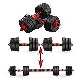 Focus Sport Hanteln 2 in 1 Set   Hanteln & Langhanteln   20 kg Hanteln für Männer und Frauen   Verstellbare Hanteln für das Training zu Hause   Gewicht 20 kg