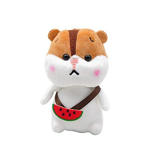 Plüschtier Rucksack Obst Hamster weich gefüllte Puppe kleine Schlüsselanhänger Tasche Anhänger Cartoon Tier Kinder Geschenk 10cm-B
