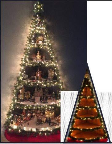 LO STUDIO DEL COLORE Albero di Natale PRESEPE ANGOLARE LED PASTORI ESCLUSI