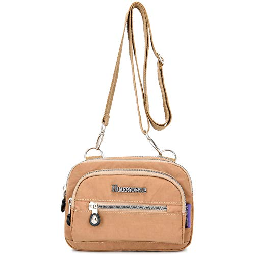 HUAERYOUYUE Women Messenger Bag for Casual Waterproof Shoulder Bag Lightweight Waist Bag Travel Cross Body Bag Side Bag Satchel Hip Pack