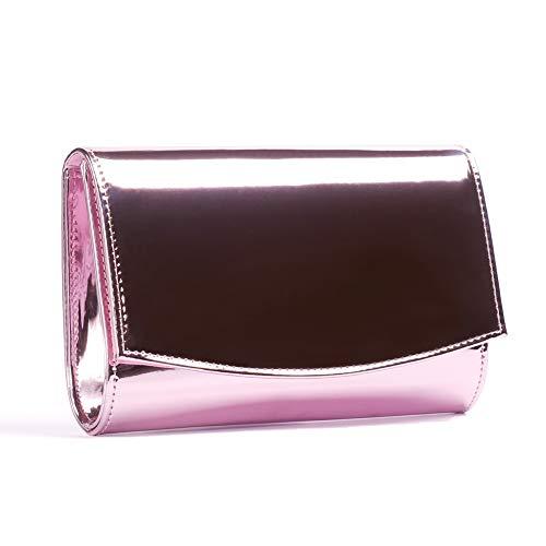Wallyn Damen-Geldbörse| Lackleder| modische Clutch| Abendtasche| Handtasche| einfarbig | Taschen > Handtaschen > Abendtaschen | WALLYN'S