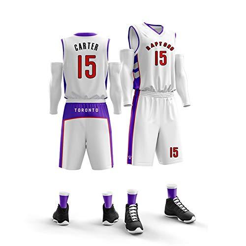 HJSW Maglia da Basket NBA Uomo, Vintage Swingman Jersey, (Vince Carter) # 15, Maglie Canotta NBA Tuta da Basket Pallacanestro Uniforme, XS-XXL (Color : Style-2, Size : M)