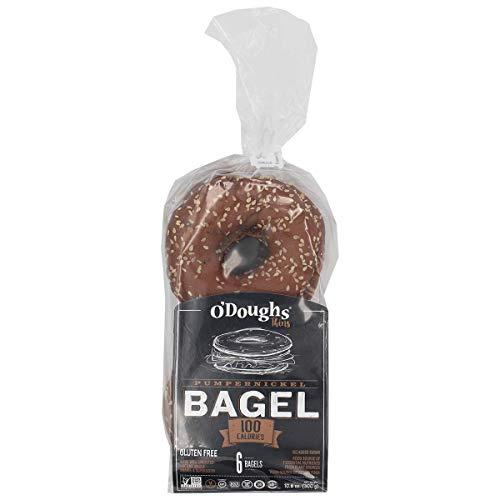 O'Doughs - Pumpernickel Bagel Thins 10.6 oz | Good Source of Fibre, Cholesterol Free, Trans Fat Free. | Pack of 6 |