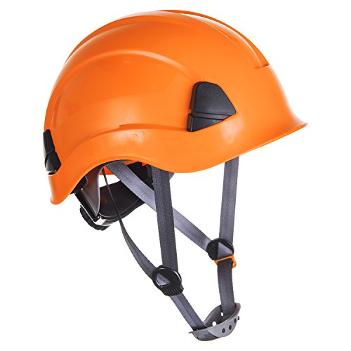Portwest PS53 - Casco resistente para trabajo en altura, Naranja, 52-63cm