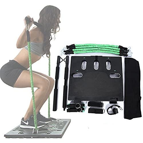 HIMAPETTR Kit De Barra De Pilates Portátil con Ajustable Bandas De Resistencia, Multifuncional Portátil para El Hogar, para Estiramiento, Yoga, Modelado, Ejercicio, Abdominales, Perder Peso
