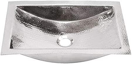 Nantucket Sinks TRS Hand Hammered Stainless Steel Rectangle Bathroom Sink