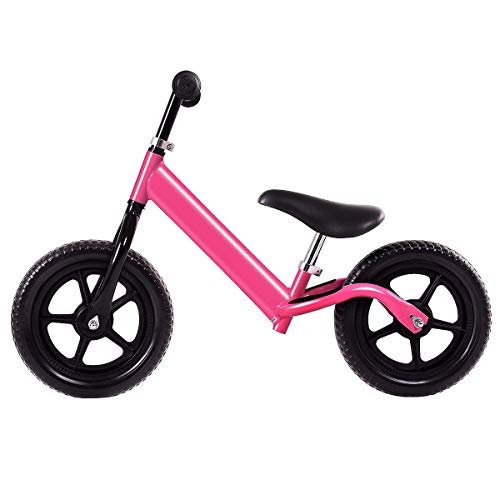 """More Sweet Deals 12"""" Balance Kids No-Pedal Learning Bicycle (Pink)"""