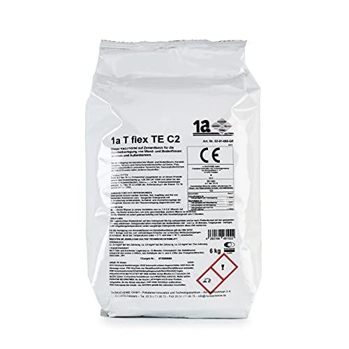 1a Bauchemie 02-01-060-GR 1a T TE C2 - Adhesivo para azulejos, color gris