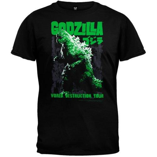 Impact Men's Godzilla World Destruction Tour T-Shirt, Black, XX-Large
