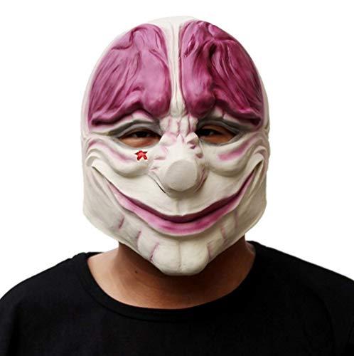 Horror Payday 2 Máscara Realista Juego Serie Látex Máscara Adultos Full Head Payday Payaso Cosplay Disfraz Máscara De Fiesta para Halloween
