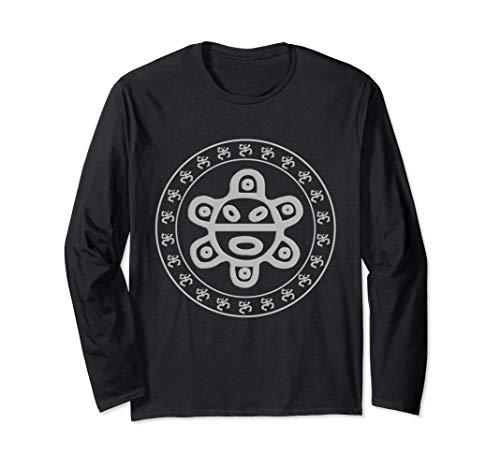 Taino Sun Taino Coqui Shirt Circle Puerto Rico Boricua tee Langarmshirt