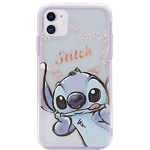 MC Fashion iPhone 11 Case, Cute Cartoon Print, Soft TPU Bumper Cover with Transparent Protective Hard PC Case for Apple iPhone 11 6.1 inch 2019 (Stitch)