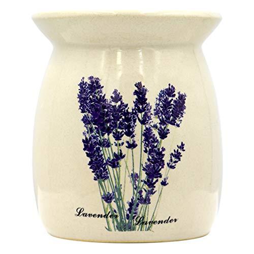 Quemador Aceites Esencial - Lavanda Lámpara de Aroma - Quemadores de Ceramica - SPA - Yoga - Aromaterapia - Relajación - Candelabros Decorativos - Difusor Aceites Esenciales