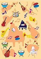 クリアーファイル 楽器 オレンジ BCF338【ご注文1回につき1個 サン・クロレラ サンプルプレゼント!】