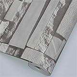 Rollo de papel tapiz en relieve minimalista modern Ladrillos de piedra de la pared de lujo 10M tejido del fondo del papel pintado rollo Papel de parede 3D de habitaciones for no estar decoración de la