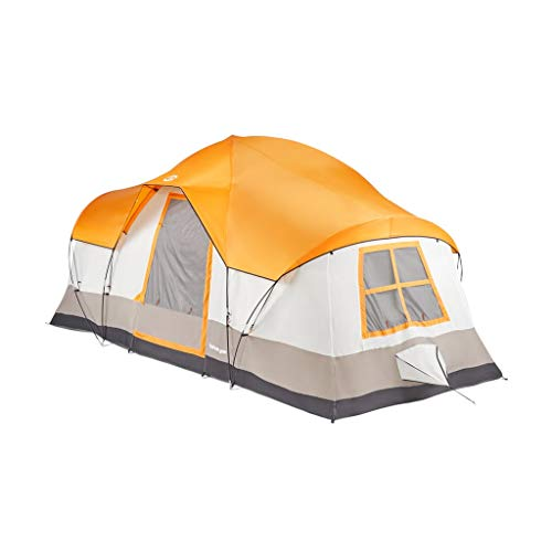 Tahoe Gear Olympia 10 Person 3 Season Tent, Orange/Ivory |...
