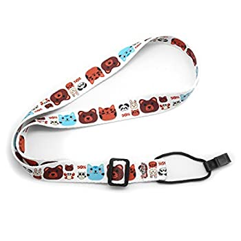 Clip On Ukulele Strap Soft Printed Adjustable - No Drilling Neck Ukulele Strap Easy To Use For Kids  Zoo