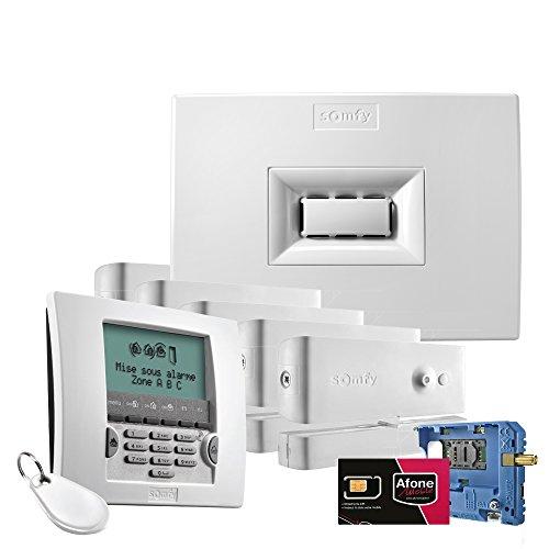 Somfy 1875148 Protexial io 3-in-1 Set Alarmanlage zur Außenabsicherung von Wohnungen und Häusern Weiß