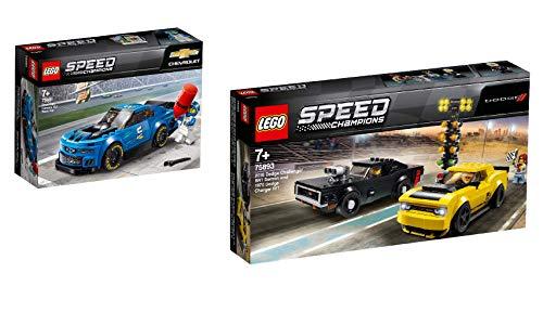 Steinchenwelt Lego Speed Champions 2er Set: 75891 Rennwagen Chevrolet Camaro ZL1 + 75893 2018 Dodge Challenger SRT Demon und 1970 Dodge Charger R/T