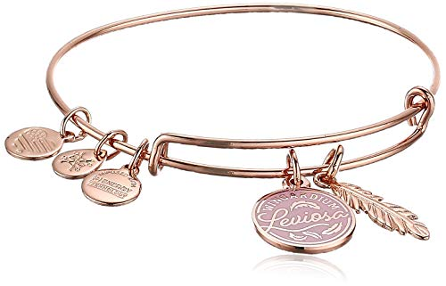 Alex and Ani Harry Potter Duo Bangle Bracelet Rose Gold/Leviosa One Size, Shiny Rose Gold (AS20EBHP01SR)
