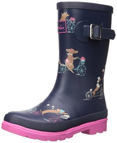 Joules Girls Printed Welly Rain Boot, Cycling Dogs, 12 M US Little Kid