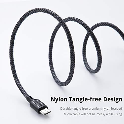 UNBREAKcable Micro USB Kabel [3er Pack, 2m] – Nylon USB Cable Ladekabel geflochtenes für Samsung Galaxy S7 Edge/S7/S6, HTC, LG, Sony, Xbox One, PS4 und vielem mehr.