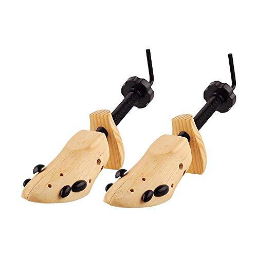 qazxsw Árbol de Zapatos 1pcs Árboles de Zapatos Juego de ensanchador de árboles de Madera Natural Tamaño 3-13 Moldeador de Madera Unisex