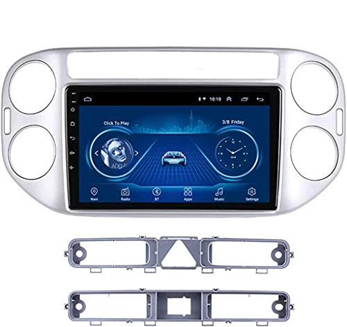 Android 8.1 Navegación GPS Radio TV, Radio de coche con pantalla táctil completa de 9 pulgadas, para Volkswagen Tiguan 2010-2018, con control de volante DAB, Bluetooth, USB, FM AM Stereo, WiFi + 4G: