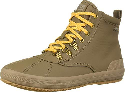 Keds Women's Scout Boot II Matte Twill Wx Rain, Walnut, 7 Medium US
