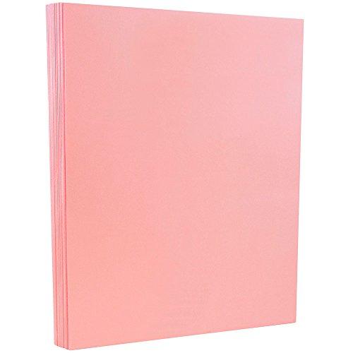 JAM PAPER Cartulina de Vitela Bristol - 215,9 x 279,4 mm Cubierta - 145 gsm - Rosa - 50 Hojas por Paquete