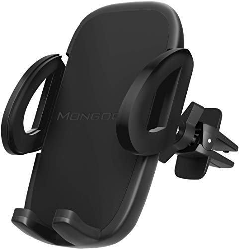 2019 Universal Air Vent Car Phone Mount Holder - Updated Version by Mongoora - for Any Smartphone - Car Cell Phone Holder - Vent Phone Holder - Car Vent Mount - Air Vent Mount Holder - for Women Men.