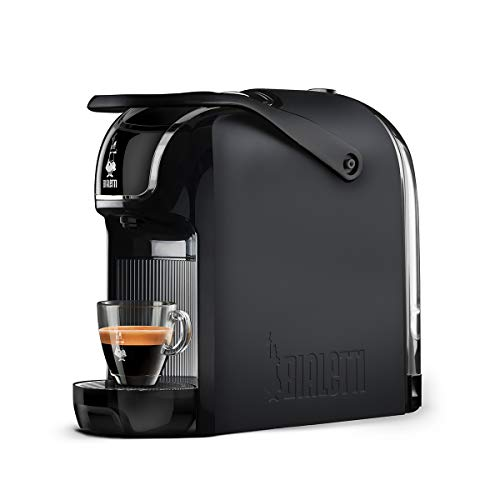 Bialetti Break Automatica Espressomaschine mit Kapseln, aus Aluminium, mit Bialetti Italien-System, kompaktes Design, Schwarz