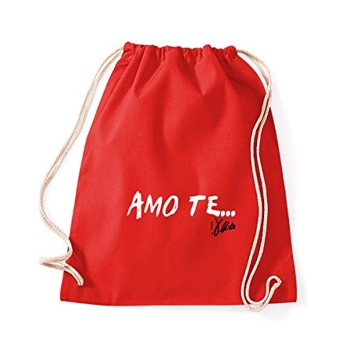 Art T-shirts, Backpack Bag I Love You Vasco Gym Bag -  Red -  One size