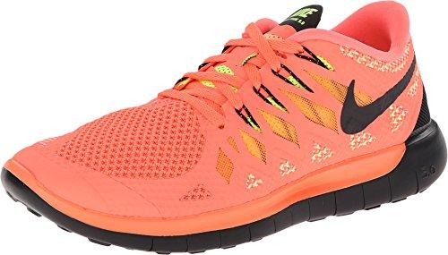 Nike - Wmns Free 5.0, Scarpe da corsa da donna, Nero (Black (Black/Pink Pow/White)), 38