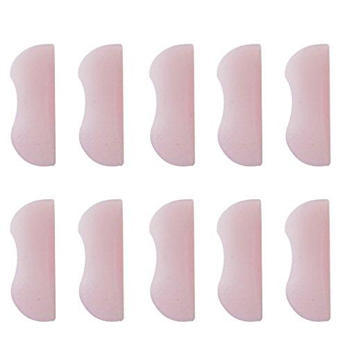 Sgerste 10 pièces/5 paires assorties Taille Silicone Rose cils bigoudi à friser Root Lifting permanentes Faux-cils Shield Coussinets