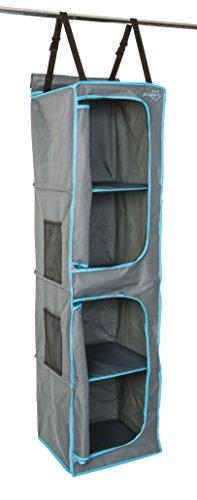Bo-Camp – Organizador de 4 Compartimentos – 2 Cremalleras – 35 x 35 x 131 cm