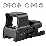 MidTen 1X22X32 Red Green Dot Sight 4 Reticles Reflex Sight Quick Detach Mount 20mm Rail